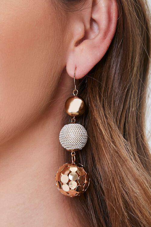 Tiered Ball Drop Earrings, image 1