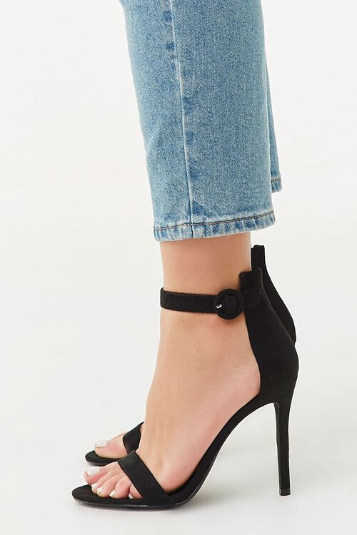Faux Suede Ankle Strap Heels, image 3