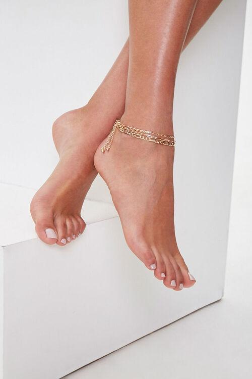 Figaro Chain Anklet Set, image 1