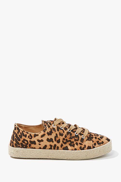 Leopard Low-Top Espadrille Sneakers, image 1