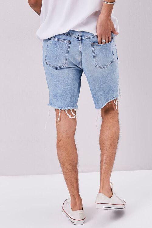 Frayed Distressed Denim Shorts, image 4