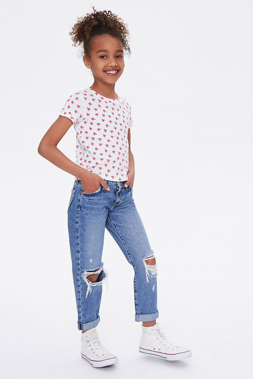 Girls Distressed Mom Jeans (Kids), image 4