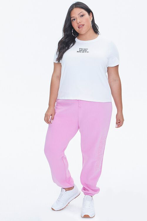 Plus Size Stand Up To Cancer Fight Hope Believe Tee, image 4