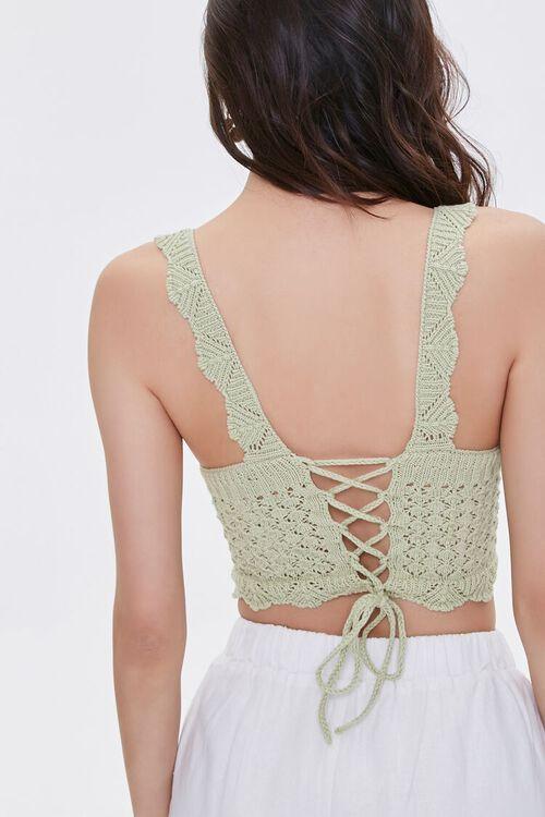 Crochet Lace-Up Crop Top, image 3