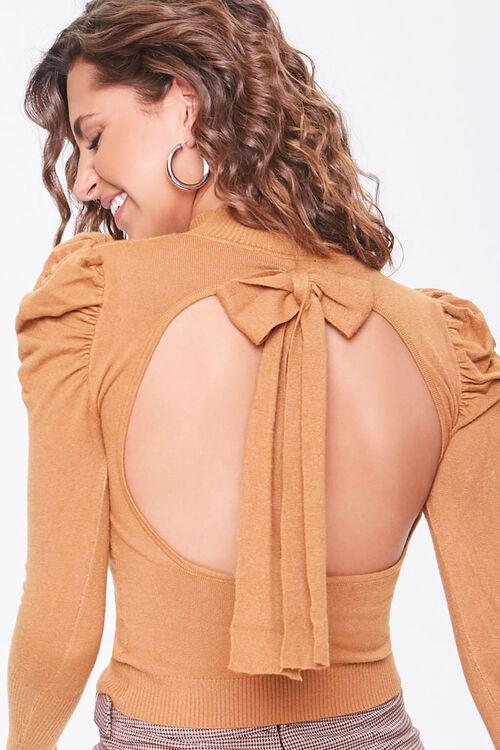 Tie-Back Mock Neck Sweater, image 5