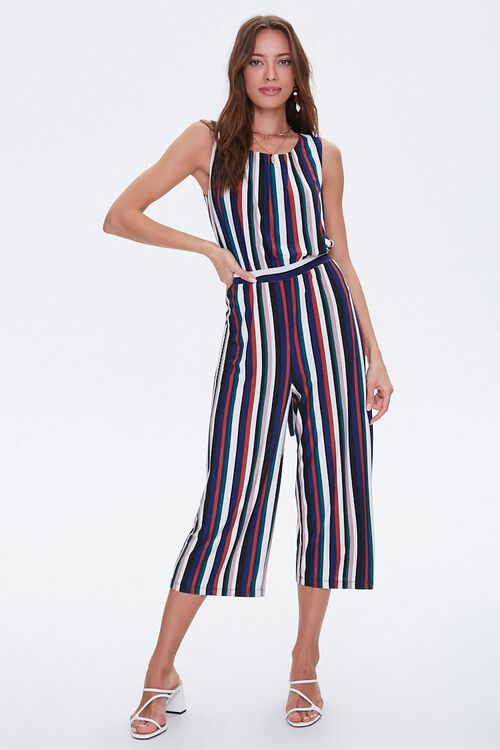 Striped Self-Tie Jumpsuit, image 4