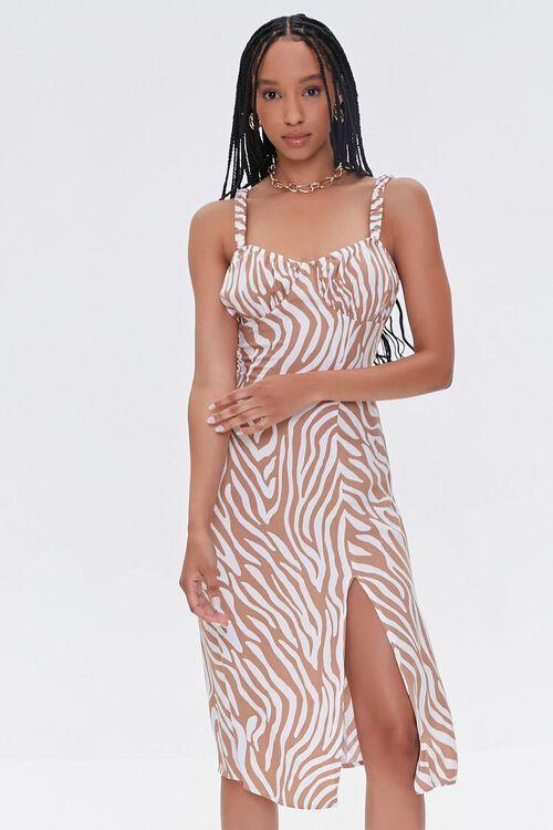 Tiger Striped Slit Dress, image 1