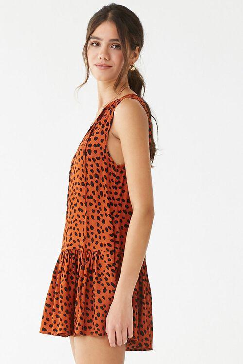 RUST/BLACK Cheetah Print Romper, image 3