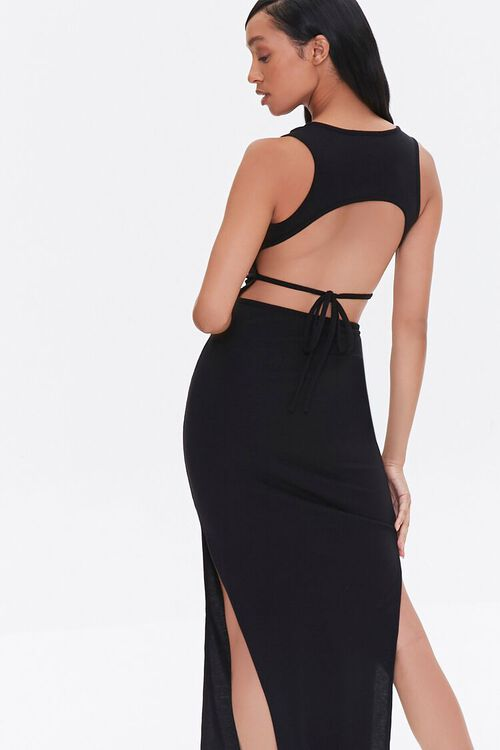 Self-Tie Cutout Midi Dress, image 2