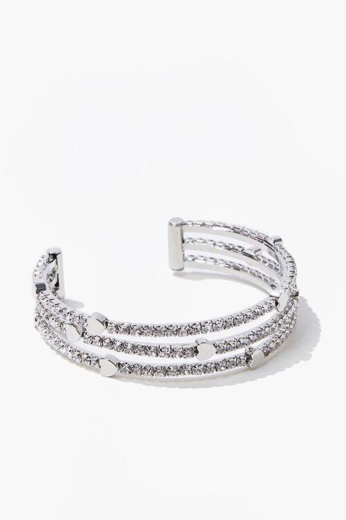 Heart Charm Bracelet Cuff, image 3