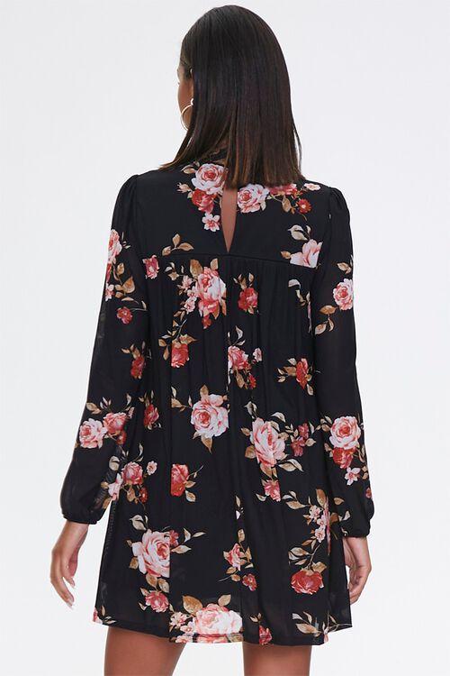 Floral Mock Neck Swing Dress, image 3