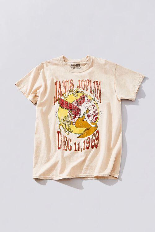 TAUPE/MULTI Janis Joplin Graphic Tee, image 1