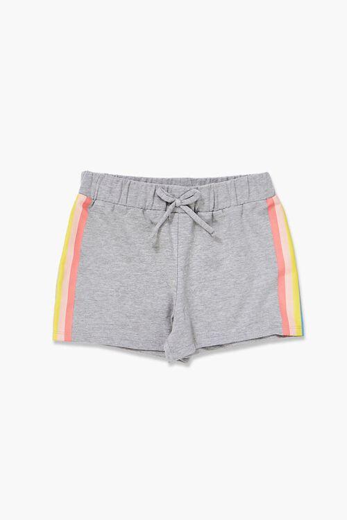 Girls Rainbow-Striped Shorts (Kids), image 1