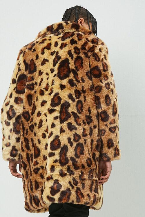 Leopard Print Faux Fur Coat, image 3