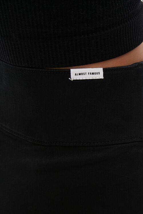 Stretch-Denim Biker Shorts, image 5