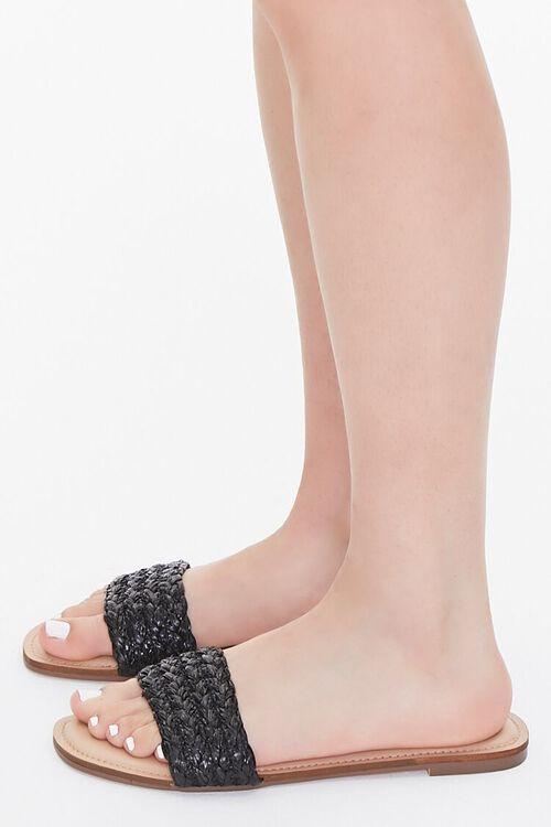 BLACK Braided Flat Sandals, image 2