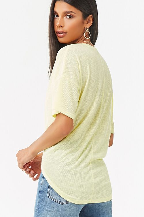 V-Neck Button-Front Top, image 3