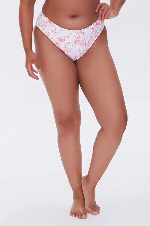 Plus Size Floral Print Bikini Bottoms, image 3