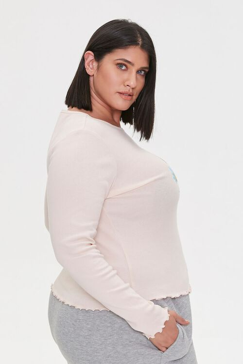 Plus Size Baby Dont Cry Graphic Top, image 2