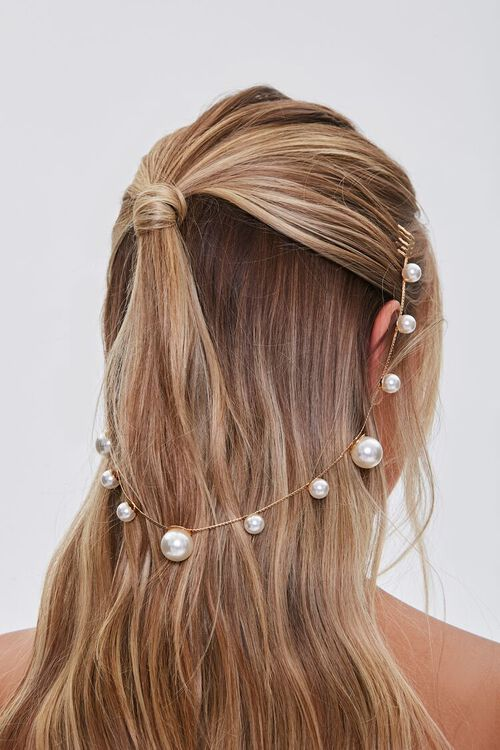Faux Pearl Hair Comb, image 1