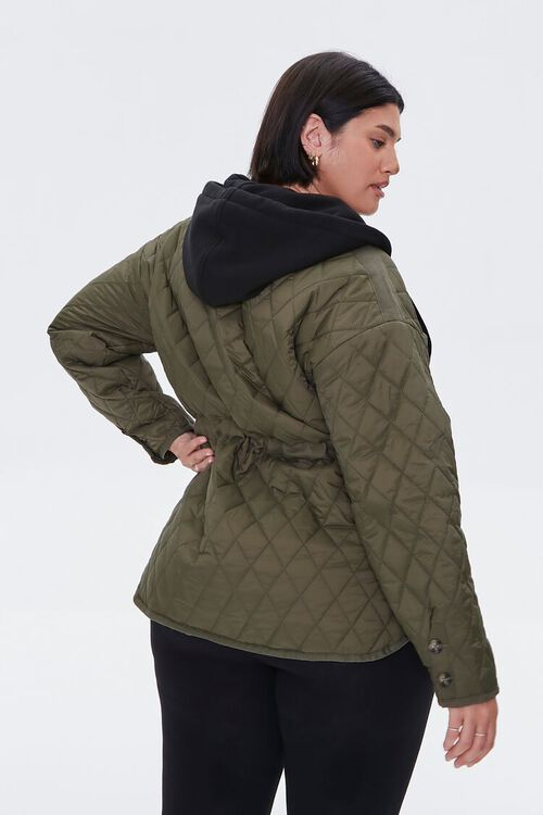 Plus Size Hooded Quilted Jacket, image 3