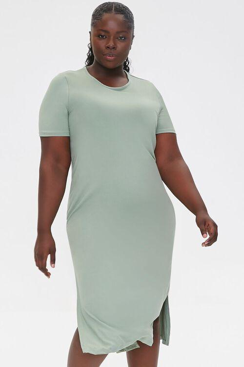 Plus Size Midi T-Shirt Dress, image 1
