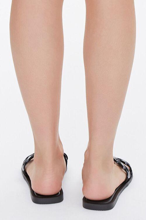 BLACK Chain-Strap Slip-On Sandals, image 3