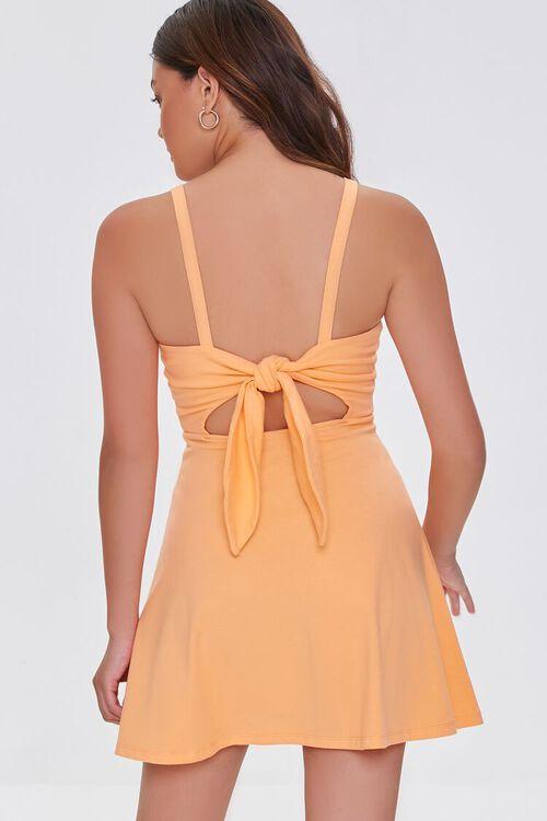 ORANGE Open-Back Skater Mini Dress, image 4