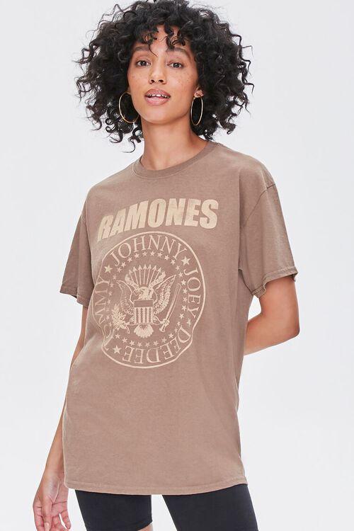 BROWN/MULTI Ramones Graphic Tee, image 1