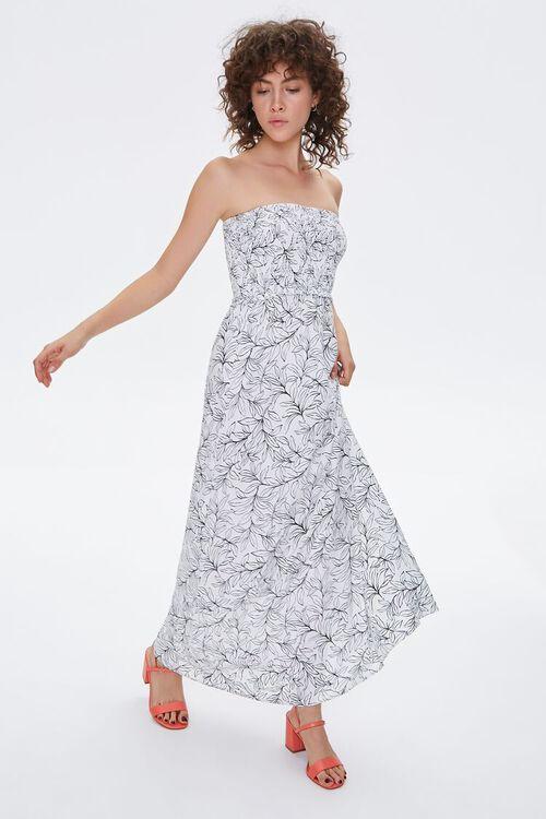 Tropical Print Maxi Tube Dress, image 1