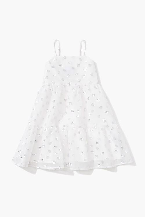 Girls Metallic Polka Dot Dress (Kids), image 1