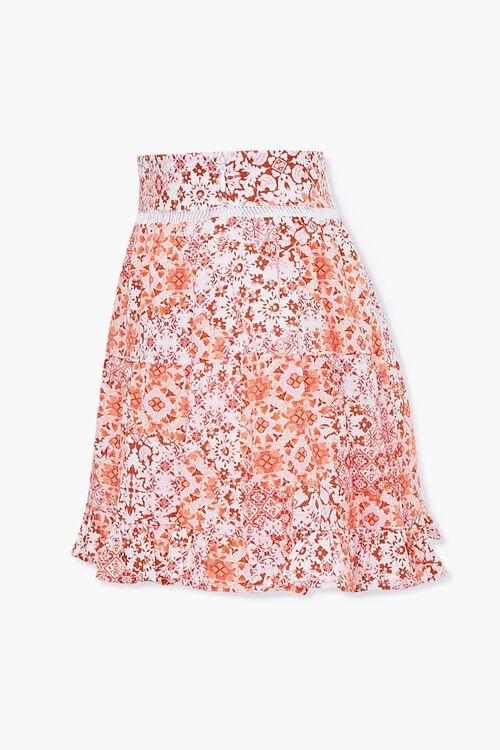 Floral Print Flounce-Hem Shorts, image 2