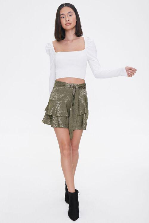Jacquard Leopard Print Skirt, image 5