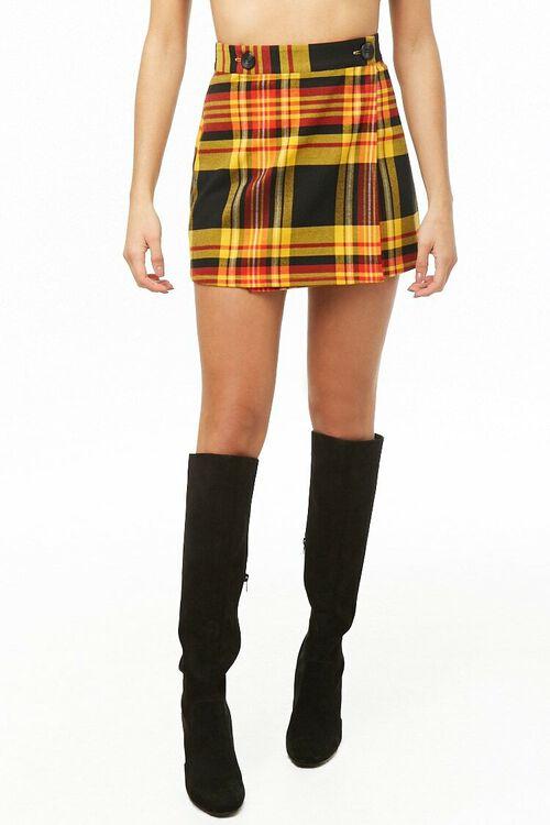 Plaid A-Line Skirt, image 2