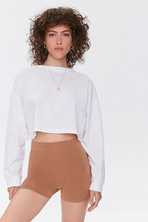 Basic Organically Grown Cotton Biker Shorts, image 6