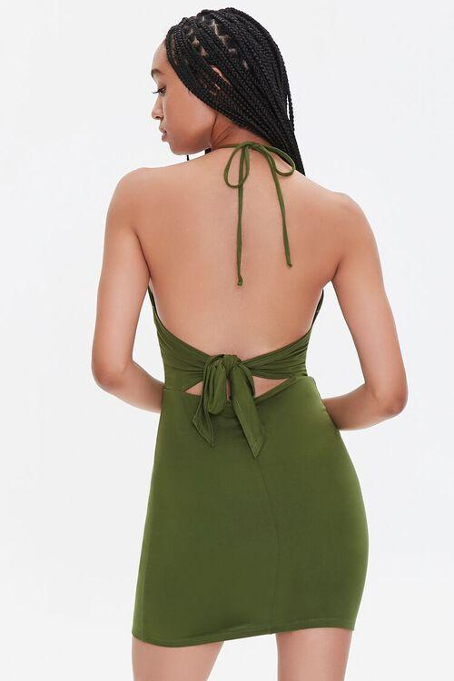 Cutout Halter Mini Dress, image 3
