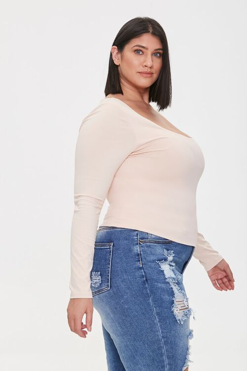 Plus Size Long-Sleeve Top, image 2