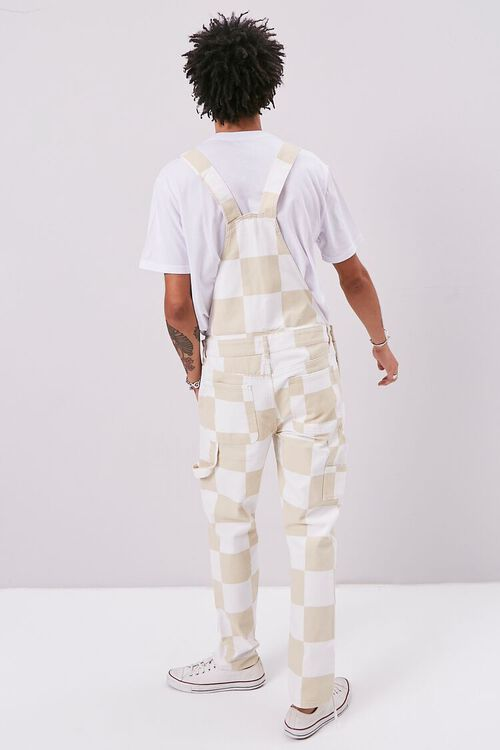 Checkered Canvas Overalls, image 3