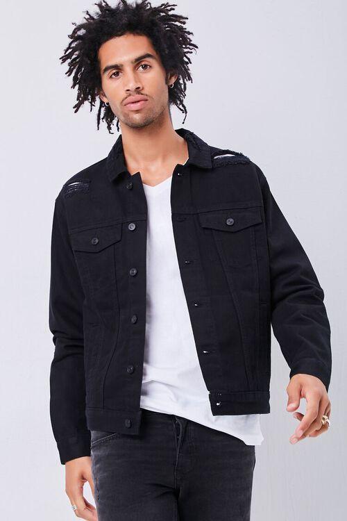 Distressed Denim Jacket, image 1