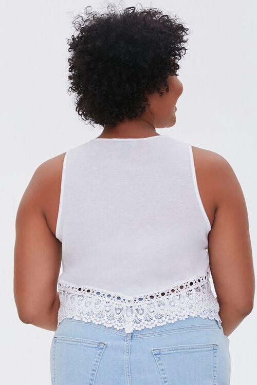 Plus Size Crochet-Trim Crop Top, image 3