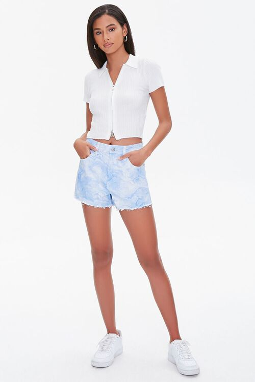 Tie-Dye Wash Twill Shorts, image 5