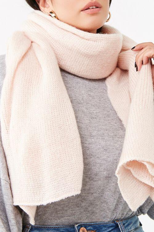 Oversized Knit Scarf, image 1