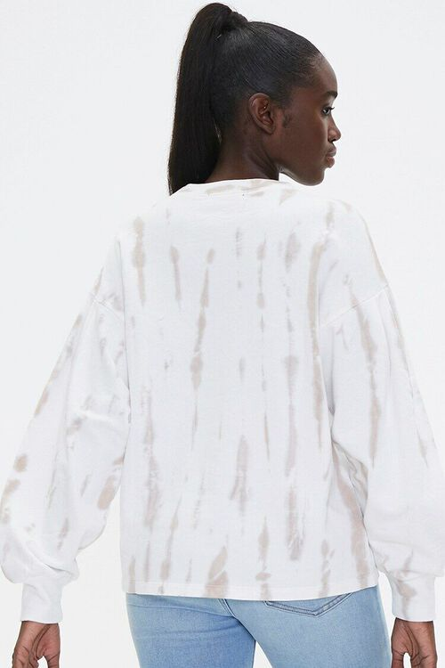 TAUPE/WHITE Tie-Dye Wash Pullover Top, image 3