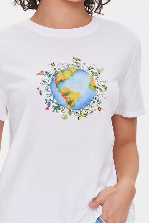 Floral Earth Graphic Tee, image 5