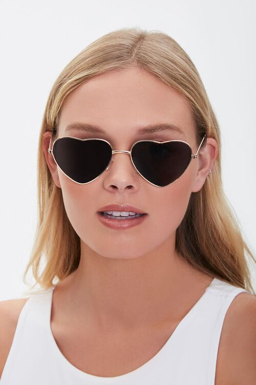 Heart-Shaped Metal Sunglasses, image 2