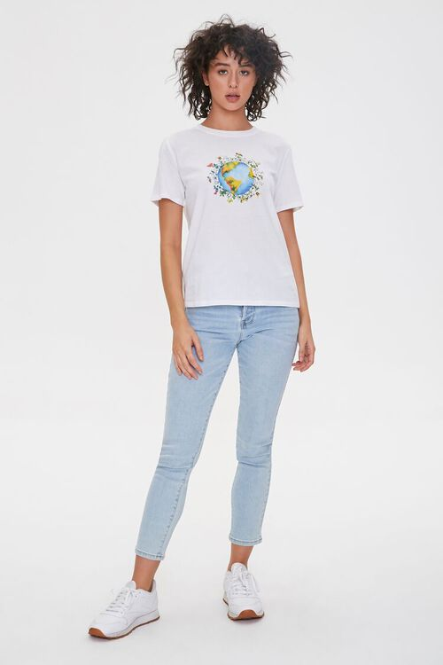 Floral Earth Graphic Tee, image 4