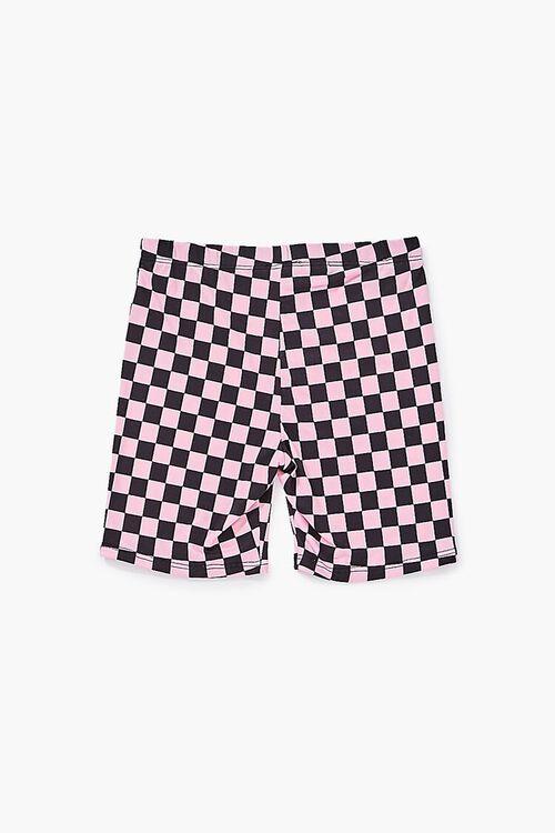 Girls Checkered Biker Shorts (Kids), image 2