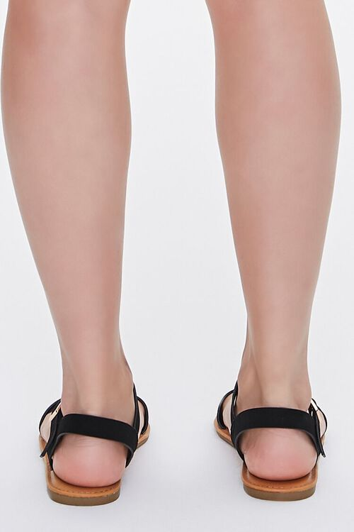 Faux Suede Open-Back Sandals, image 3