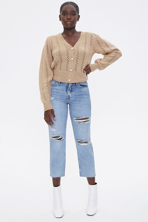 Faux Pearl Cardigan Sweater, image 4
