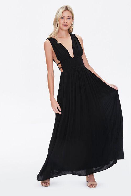 Plunging Maxi Dress, image 1
